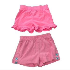 Two pairs pink shorts 2T